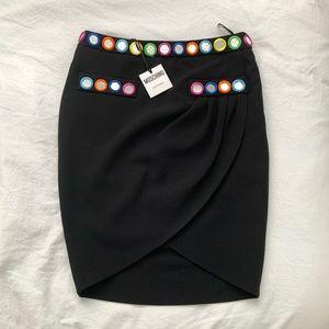 New moschino couture designer draped skirt